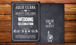 Cool & Co Wedding Invitation