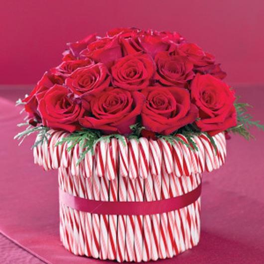 Candycane vase