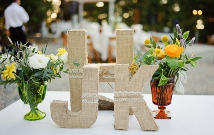 Wedding table DIY