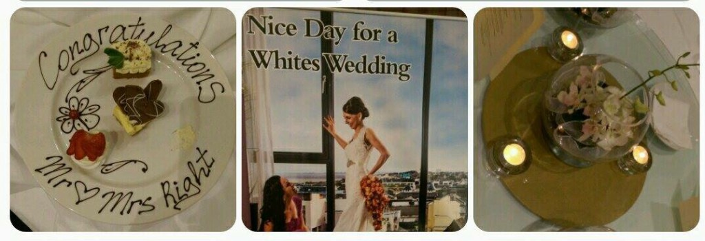Nice day for a 'Whites' Wedding