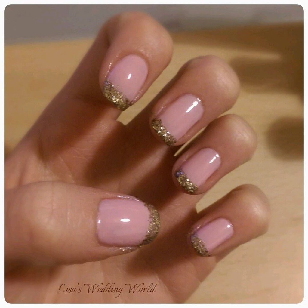 Nailing the bridal look - DIY Sparkle Nails!