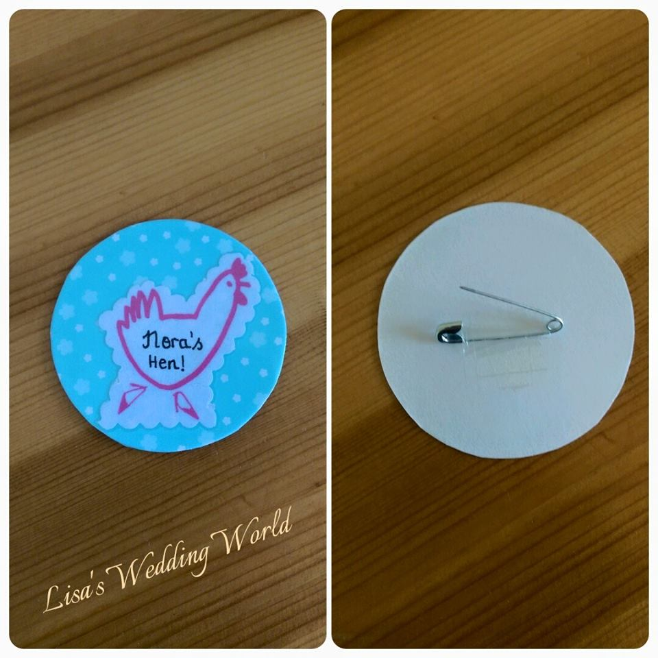 DIY Hen Party Badges