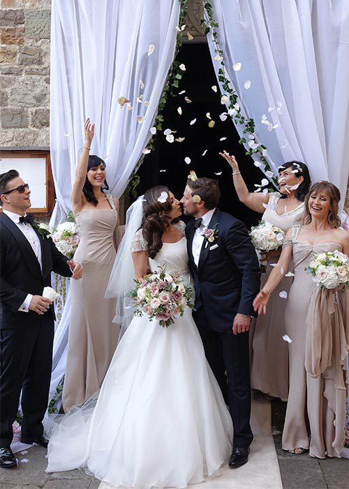 Lisa Cannon weds in Florence Fairytale