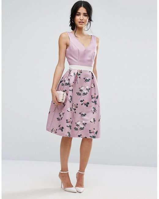 Chi Chi London 2 in 1 Floral Midi Dress With Low Back €86.66