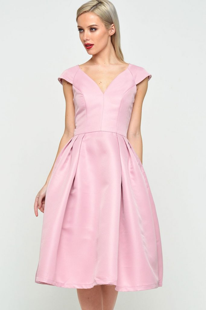 0067e11c58aa May Cap Sleeve Cocktail Dress in Pink €84